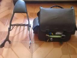Bolsa bagageiro com suporte para moto