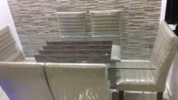 Mesa 6 cadeiras 1200,00
