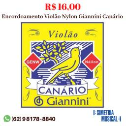 Cordas - Encordoamento para Violão Nylon Giannini - Canário