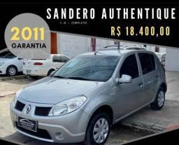 Sandero 1.0 authentique 2011 o mais econômico do Brasil - 2011