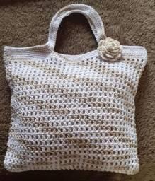 Bolsa de crochê pra praia