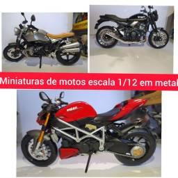 Miniatura de moto feito em metal esc:1/12