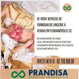 4994 Repasse loja franquia lingerie no centro de Florianópolis