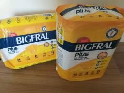 Fralda Diurna BIGFRAL, incontinência intensa, tamanho G com 8 unidades