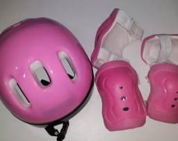 Kit proteção patins/patinete/ skate/bike