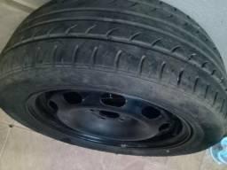 Roda aro 15 com pneu bom, 01 unidade