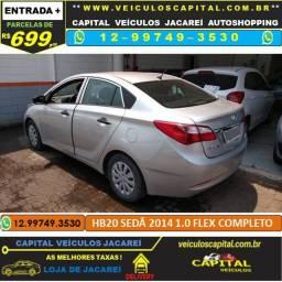 HB20 Sedan 2014 parcelas de 699 reais ao mês 1.0 Flex