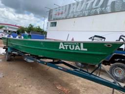 Vendo canoa de alumínio com carroça e motor 50