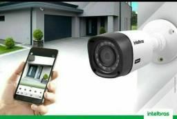 Kit 04 câmeras Intelbras multi HD INSTALADO