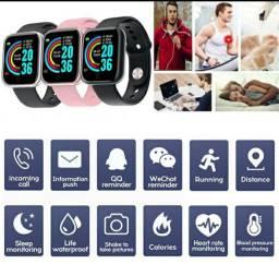 Smartwatch Y68 à Prova d?Água com Monitoramento Esportivo de Oxigênio