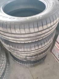 Jogo de roda aro 15 com pneus
