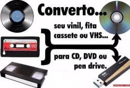 Converto fitas vhs, vhs-c, dvcam, mini dv p/ HD