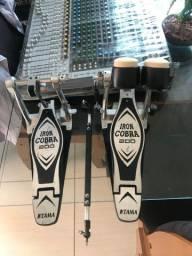 Pedal duplo Tama Iron cobra HP200