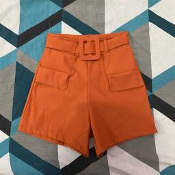 Short P/m cintura alta novo