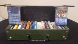 Relíquia Maleta Porta 14 Fitas Cassete Anos 80