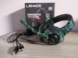 Headset Gamer Lehmox Gt-F15 Com LED