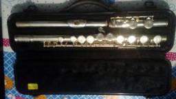 Flauta Transversal (PRATEADA)-  Michael (Semi-nova)
