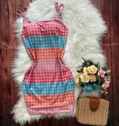 Vestido Tubinho Xadrez em Malha