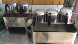 Cafeteira elétrica industrial apenas a com 3 espaços
