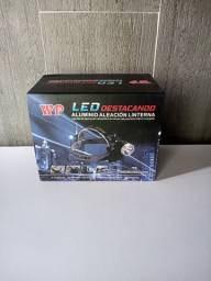 Nova Farol Bike Lanterna Bicicleta Led T6 Recarregável + Baterias - 3