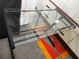 Mesa Escrivaninha para Trabalho em Vidro Black Alta Qualidade