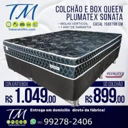 Colchão + Base Queen size Com Frete Grátis!