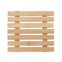 Descanso de panela e prato de bambu quadrado rústico Novo! Na embalagem lacrada!