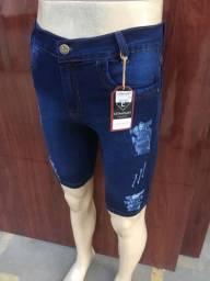 Bermuda Jeans Masculina. Com Elastano. Várias Cores e Tamanhos. Promoção de Fabrica