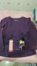 Camiseta de manga da Alphabeto 10.anos.