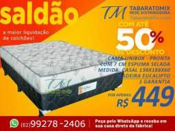 Mega Promocional! cama de casal 7cm conjugada Até 6X Sem Juros