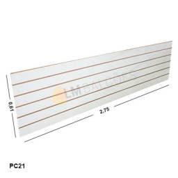Painel Canaletado Branco Mdf 0,61 X 2,75 Perfeito Expositor