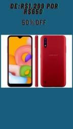 Smartphone Samsung Galaxy A01 32GB  NOVO