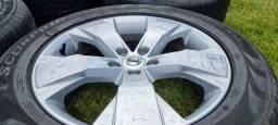Jogo de Rodas Originais Volvo R18 com Pneus