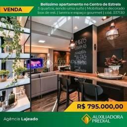 Apartamento à venda com 3 dormitórios em Centro, Estrela cod:337130
