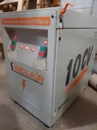 Trafo Gerador Sinclair 10cv Trifásico Usado