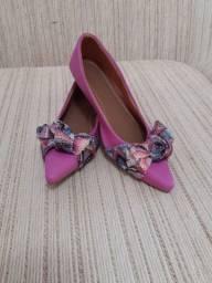 Sapatilha bico fino - rosa
