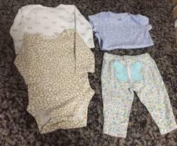 Lote bebe menina 0 3 meses R$ 60
