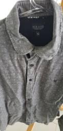 Camisa six one cor preta masculina