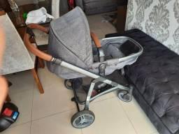 Carrinho bebe 3x1 luxo infanti epic lite couro travel system base isofix