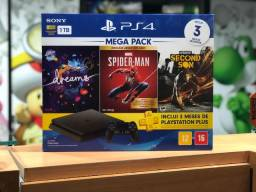 PlayStation 4 slim 1TB bundle com 3 jogos (lacrado/loja física/game hero)