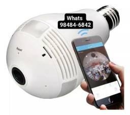 Lâmpada Câmara  panorâmica 360 <br>conectividade com celular. ( Entrega grátis)<br>