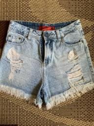 Shorts jeans revanche e roxy