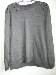 Blusão/moletom cinza semi usado