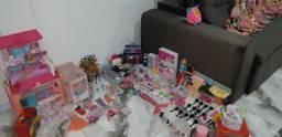 Kit bonecas Barbie e Monster high acessórios Diversão Crianças Presente