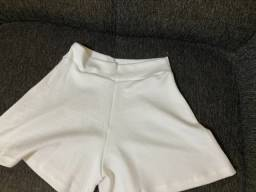 Short de tecido cintura alta godê