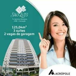 Edifício são Luís. apto amplo com 125m² 3 suítes +dependência 2 ou 3 vagas de Garagem.