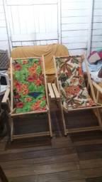 Lindas cadeiras espreguiçadeiras