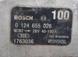 Alternador Bosch 24V 75A revisado - Original Scania 100A