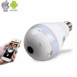 Lâmpada Led com Camera 360º Wifi App próprio para iPhone e Android