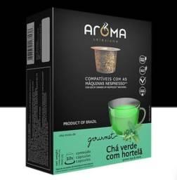 Chá verde e menta/ nespresso